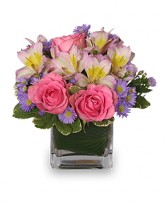 PRETTY AS YOU PLEASE Vase of Flowers in Bryson City, NC | VILLAGE FLORIST & GIFTS