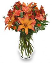 WARM CINNAMON SPICE Floral Arrangement in East Hampton, CT | ESPECIALLY FOR YOU