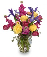 WATERCOLOR FLOWERS Arrangement in Burlington, NC | STAINBACK FLORIST & GIFTS