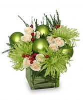 GLAMOROUS GREEN Holiday Bouquet in Catasauqua, PA | ALBERT BROS. FLORIST
