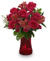 Richly Rosey Bouquet of Flowers