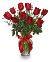 ROMANTIC RED TULIPS Arrangement in Thunder Bay, ON | GROWER DIRECT - THUNDER BAY