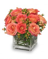Just Peachy Roses Arrangement