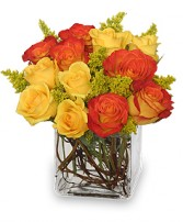 PHOENIX FLAME Rose Arrangement in Woburn, MA | THE CORPORATE DAISY