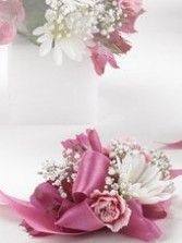 Pink Ribbon Florals Wedding Corsage