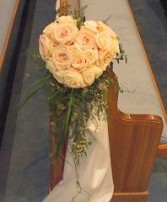 Wedding Ceremony Flowers Rose Heart Pew Marker in Oakdale, MN | CENTURY FLORAL & GIFTS
