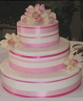Wedding Cake with Pink & White Tulips in Oakdale, MN | CENTURY FLORAL & GIFTS