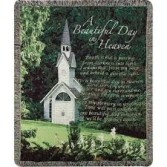 A Beautiful Day in Heaven Sympathy Throw Many Styles Available.  Call (304) 295-5680 for availability!