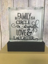 A family is a circle of strength love and laughter Gift
