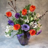 A World of Thanks Spring bouquet in vase