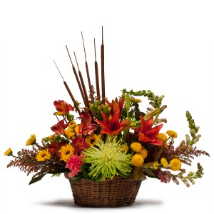 Abundant Basket Basket in Naugatuck, CT | TERRI'S FLOWER SHOP