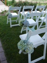 Aisle Hydrangea pieces Ceremony Decorations in Mcfarland, WI | THE PETAL PATCH