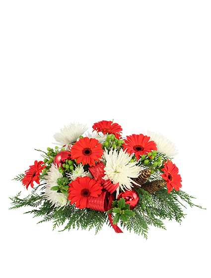 All i want for christmas centerpiece flower
