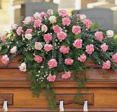ALL IN PINK CASKET SPRAY in Edison, NJ | E&E FLOWERS AND GIFTS