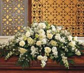 ALL WHITE CASKET SPRAY in Edison, NJ | E&E FLOWERS AND GIFTS
