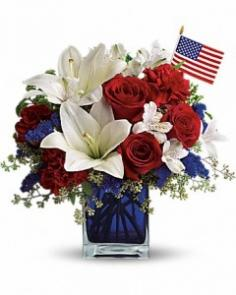 America the Beautiful Flower Arrangement in Burbank, CA | LA BELLA FLOWER & GIFT SHOP