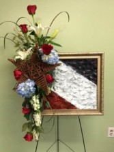 American picture Funeral spray