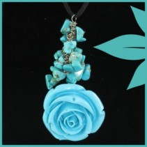 Antique Rose Necklace (Turquoise) Jewellery