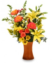 AUTUMN EXCITEMENT Arrangement in Hillsboro, OR | FLOWERS BY BURKHARDT'S