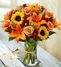 Autumn Fields in Rich Fall Hues Sunflowers, Lilies, Wheat, Autumn  Leaves & More