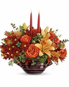 Autumn Gathering Centerpiece  in Dayton, OH | ED SMITH FLOWERS & GIFTS INC.
