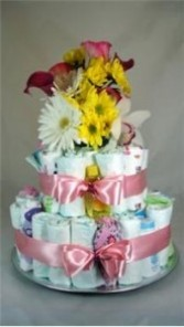 Baby Girl Diaper Cake New Baby
