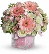Baby's First Block Deluxe - Pink in Eau Claire, WI | 4 SEASONS FLORIST INC.