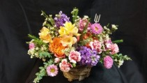 Basket of Color  Fresh Arrangement