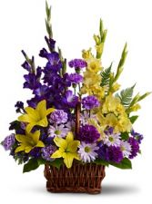 BASKET OF MEMORIES FRESH ARRANGEMENT