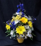 BE HAPPY BOUQUET VASE ARRANGEMENT