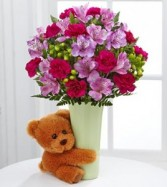 BEARY BIG HUG Arrangement in Springfield, MO | BLOSSOMS
