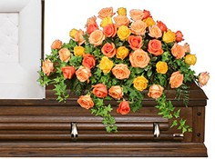BEAUTIFUL ROSE BENEDICTION Funeral Flowers in Council Bluffs, IA | ABUNDANCE A' BLOSSOMS FLORIST