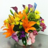 BRIGHTEN HER DAY Assorted everyday colorful flowers