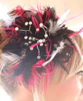 Black and Red Prom Hair Clip Prom Accessories in Springfield, MO | FLOWERAMA #142