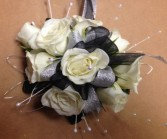 Black and white sparkle night prom flowers