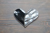 Black and White Stained Glass Heart