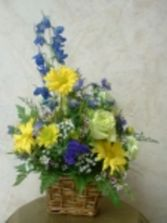 Blue Bells Basket Arrangement in East Hampton, CT | ESPECIALLY FOR YOU
