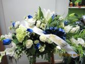 Blue Goodbye Funeral in Bracebridge, ON | CR Flowers & Gifts ~ A Bracebridge Florist