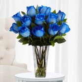 Blue roses vased Blue Roses Vased