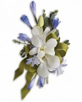 Bold and Blue Corsage Prom Corsage