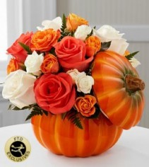 Bountiful™ Rose Bouquet Fall Arrangement