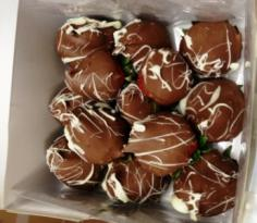 Box of 13 Dipped Chocolate Covered Strawberries Yummy!    Just give us 24 hours notice please in Springfield, IL | FLOWERS BY MARY LOU INC