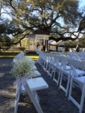 Breath of Spring Baby's Breath Aisle Marker Pew Decorations