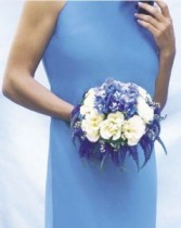 Something Blue Bridesmaid Bouquet