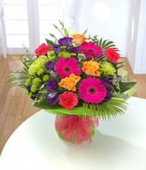 Bright and Bold Hand Tie Hand Tie Bouquet