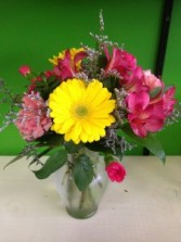 Bright and Happy Mixed Vase Arrangement in Jonesboro, AR | HEATHER'S WAY FLOWERS & PLANTS
