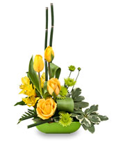 UPLIFTING LIME & SUNSHINE Floral Design in Bracebridge, ON | CR Flowers & Gifts ~ A Bracebridge Florist