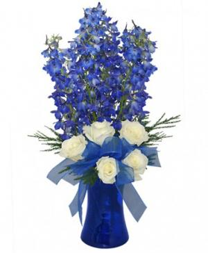 Brilliant Blue Bouquet of Flowers in Saint Petersburg, FL | ABSOLUTELY BEAUTIFUL FLOWERS