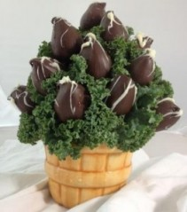 Bushel Basket of Chocolate Strawberries Please give us 24 hr notice