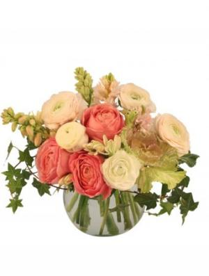Calming Coral Arrangement in Niagara Falls, ON | COUNTRY GARDENS FLORAL EXPRESSIONS